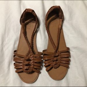 F21 leatherette sandals
